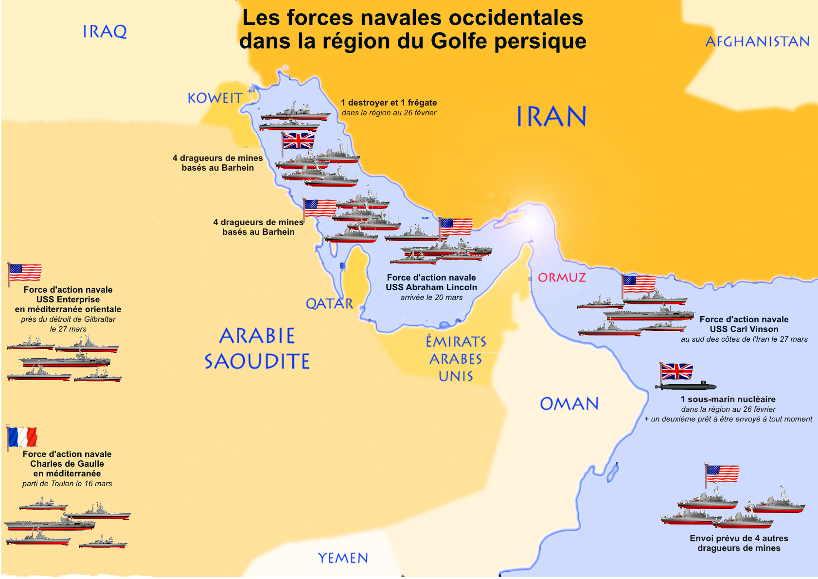 Golfe Persique Une Concentration De Navires De Guerre Qui Solidarit 233 Amp Progr 232 S