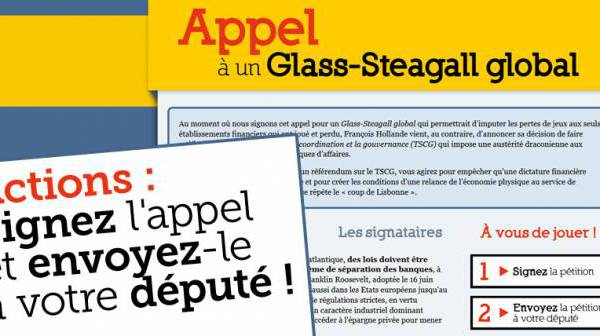 Appel à un Glass-Steagall global