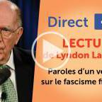 Lecture de LaRouche : Paroles d'un vétéran sur le fascisme financier
