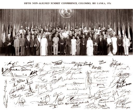 Le 5e sommet des dirigeants des pays non-alignés de 1976, à Colombo, Sri Lanka.