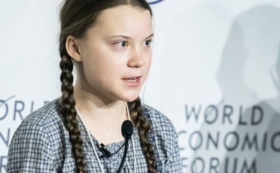 Greta Thunberg, au World Economic Forum.