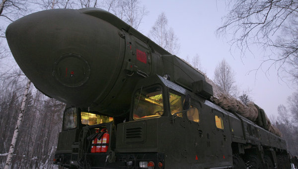 Missile balistique intercontinental russe Topol-M.