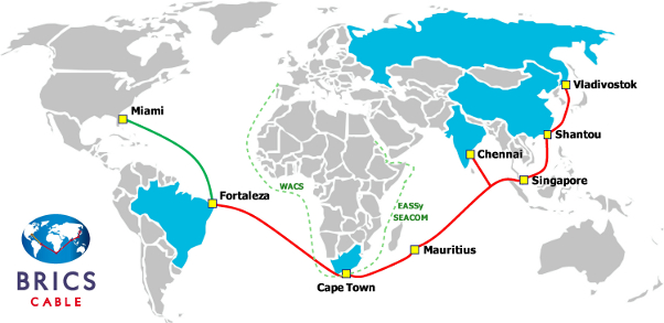Carte de BRICS Cable