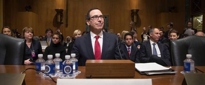 Stephen Mnuchin, lors de son audition au Sénat.