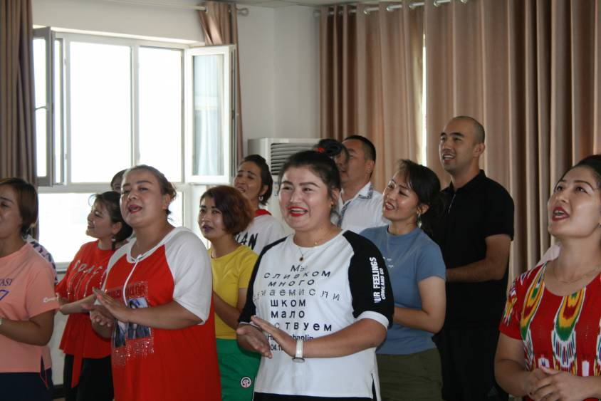 Atelier chant au Centre vocationnel de Gaochang (Turpan)